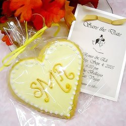 Monogram Heart Cookies