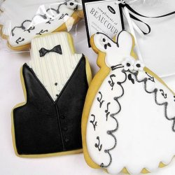 Couture Bridesmaids Dress Cookie