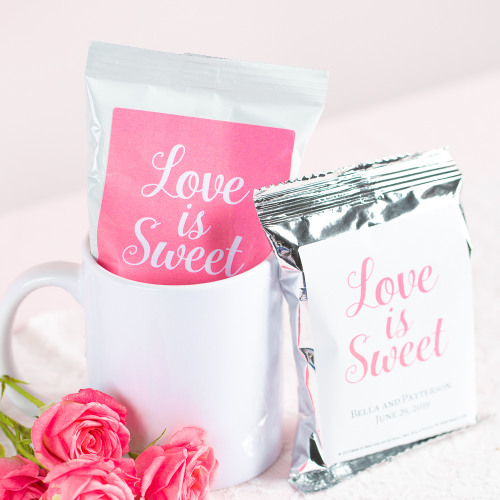 Personalized Love is Sweet Wedding Coffee Favors