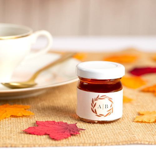 Personalized Fall Harvest Wedding Honey Jars