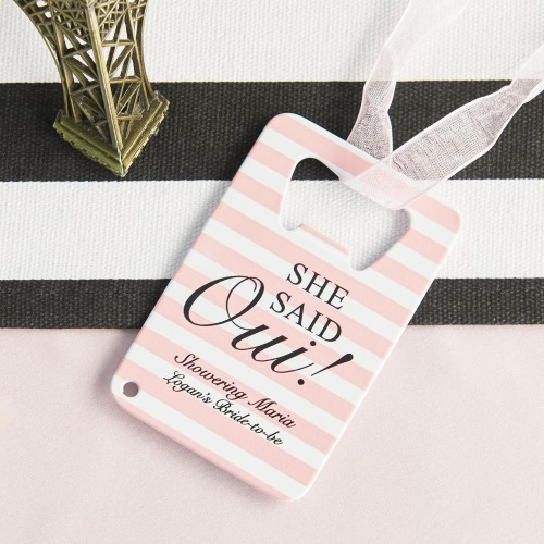 Personalized She Said Oui Full Color Credit Card Bottle Openers