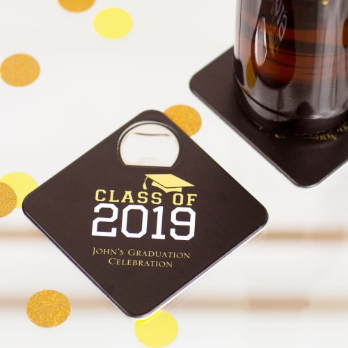 Personalized Party Coaster Bottle Openers