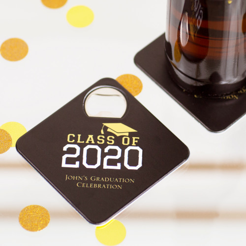 Personalized Class of Party Coaster Bottle Openers