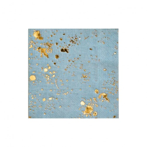 Blue Splash Cocktail Paper Napkins