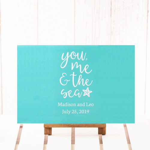 Personalized You Me & the Sea Wedding Poster
