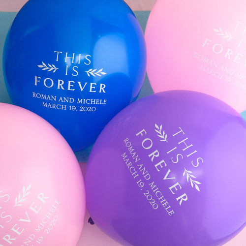 Personalized This is Forever Wedding Latex Balloons