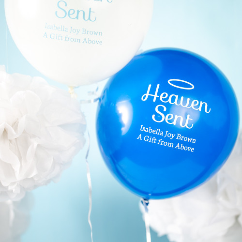 Personalized Heaven Sent Baby Latex Balloons