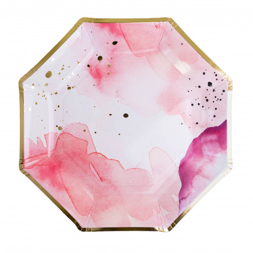Pretty in Pink Dessert Plate