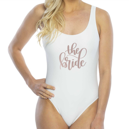 White Bridal Party Swimsuit