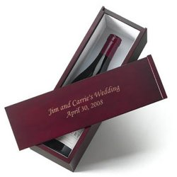 Engraved Wine Box