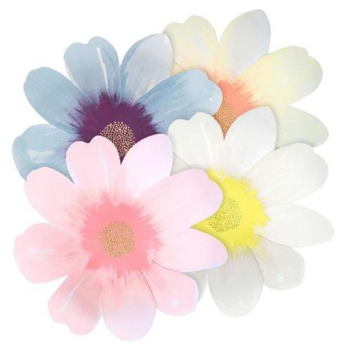 Flower Garden Large Paper Plates