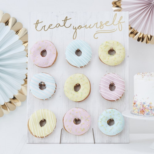 Rustic Treat Yourself Donut Wall