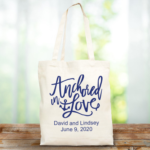 Personalized Natural CAnvas Wedding Tote Bag