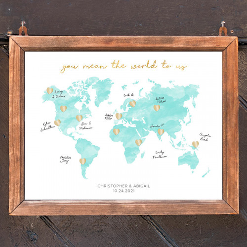 Personalized Wedding Map Guest Book