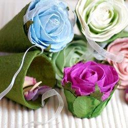 Floral Hanging Favor Cones