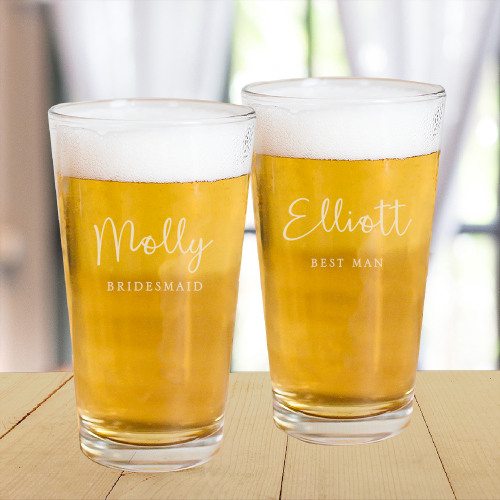 Engraved Mixing Glass