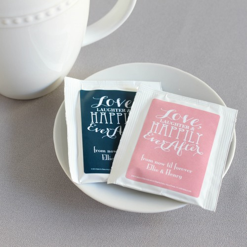 Personalized Love Laughter Wedding Tea Bag Favors