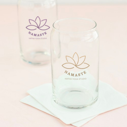 Corporate Logo Can Glass