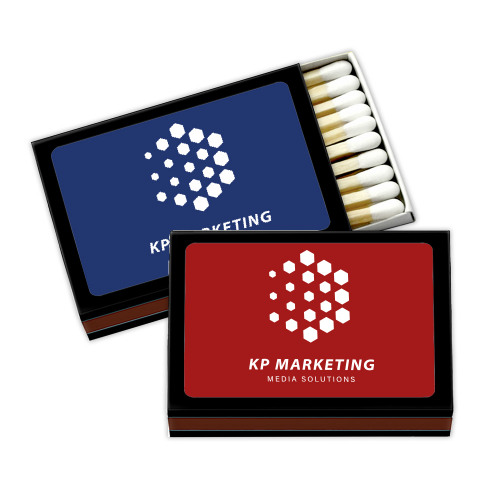 Personalized Black Corporate Matchboxes