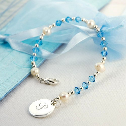 Swarovski Crystal Bracelets with Monogram Charm