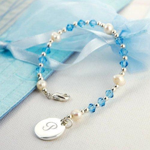 Swarovski Crystal Bracelets with Monogram Charm