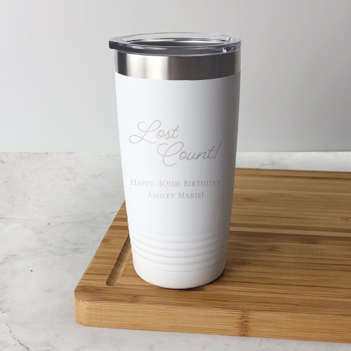 Engraved Colored Birthday Tumbler
