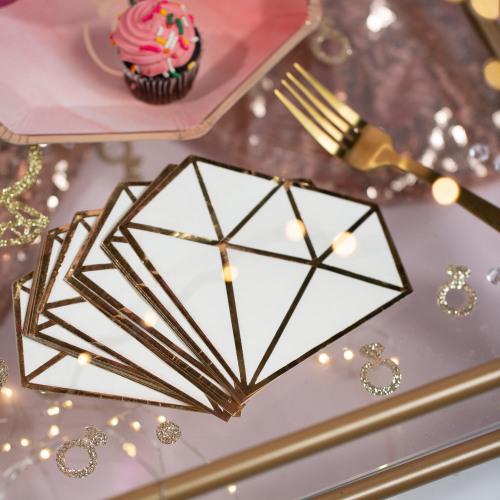 Diamond Cocktail Napkins