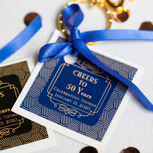 Personalized Vintage Cheers Themed Birthday Tags & Labels