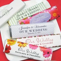 Personalized Wedding Chocolate Candy Bars