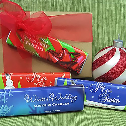 Personalized Holiday Chocolate Bars