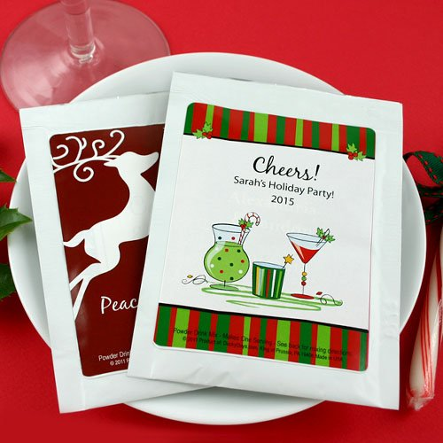 Personalized Winter Holiday Cocktail Mix