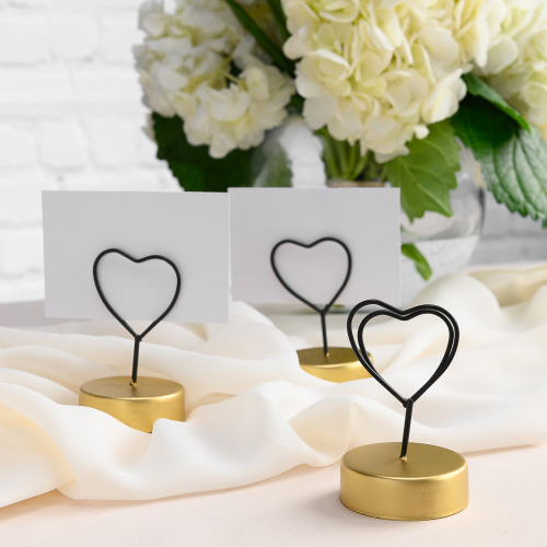 Heart Table Place Card Holder