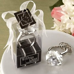 Diamond Ring Keychain Favor