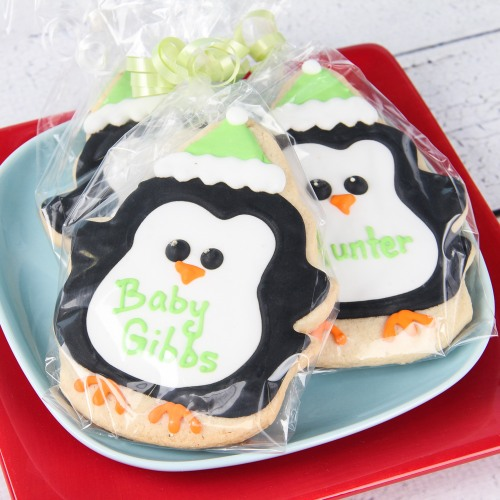 Personalized Penguin Cookies
