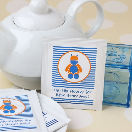 Personalized Baby Stripe Tea Bags