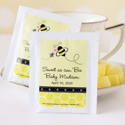 Personalized Bee Theme Tea Bags