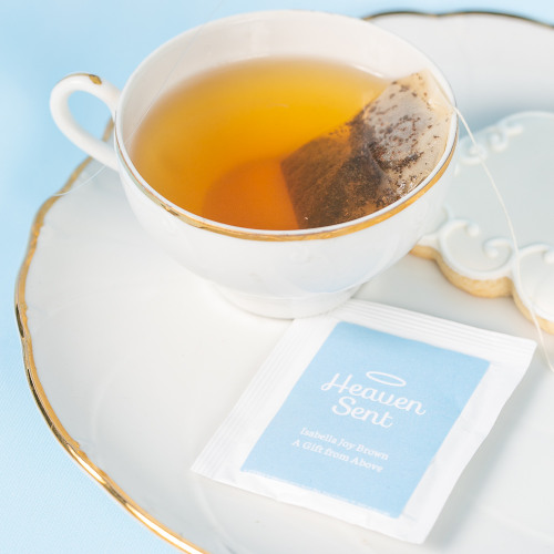Personalized heaven sent Baby Shower Tea Bags