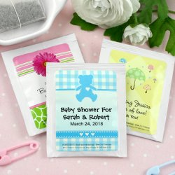 Personalized Baby Shower Tea Bags