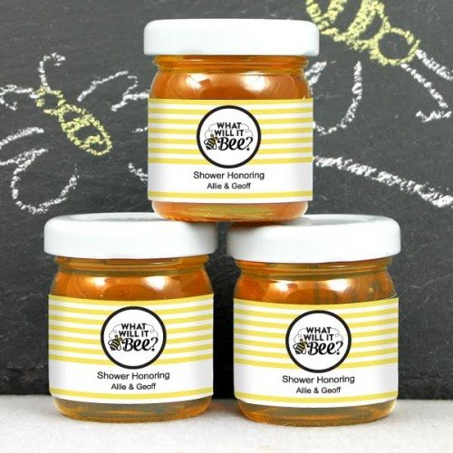 Personalized What Will it Bee? Honey Jars