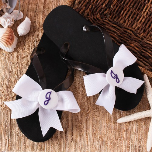 Custom Made Monogrammed Flip Flops