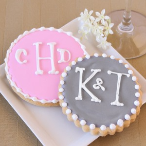 Personalized Wedding Themed Cookies
