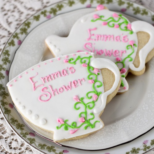 Personalized Tea Party Themed Cookies
