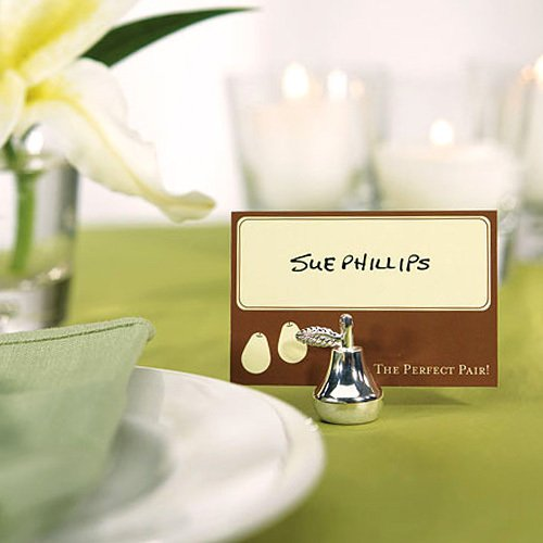 Silver Pear Place Card Holder