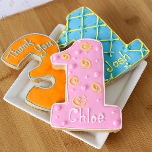 Personalized Birthday Themed Cookies