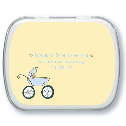 Chic Baby Stroller Personalized Baby Shower Mint Tins