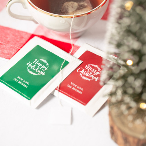 Holiday Tea Bag Favors Happy Holiday's