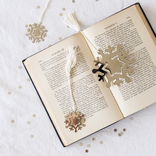 Silver Snowflake Bookmarks