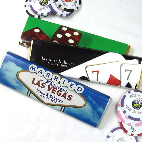 Personalized Vegas Themed Chocolate Bars