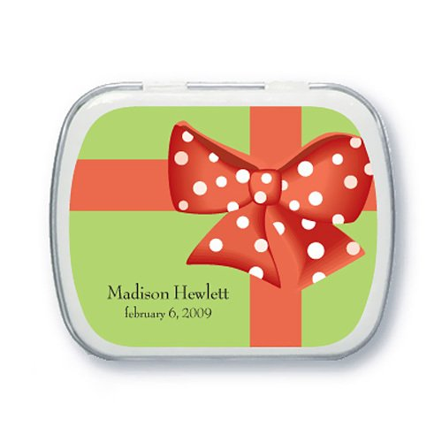 Gift Wrap Birthday Party Mint Tins