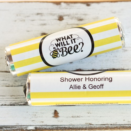 Personalized What Will It Bee Mint Rolls